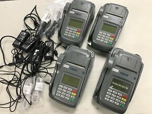 Lot Of 4 First Data Fd200 Credit Card Check Terminal Pos