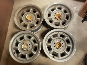 Vintage Genuine Mag Minilite 6jk 13ch Wheel Rim Set Of 4 Dec 1974 Porsche Fiat