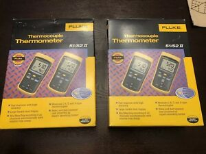 Fluke Thermocouple Thermometer 52 Ii no Returs Acceptance