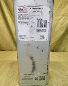 Lincoln Elec 50 Lb Steel Can Stick Electrodes Ed034457 Arc 80 Pipeliner 5 M m