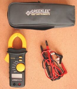Greenlee Cm 750 Multi meter 600 Amp used Digital Handheld True Clamp on