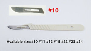 5box 50pcs Dental Medical Scalpels Disposable Sterile Surgical Blade 15 handle