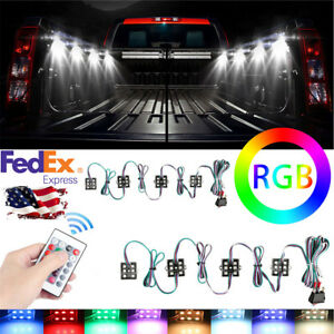 8pc Truck Bed Rgb Led Lighting Under Body Light Kit For Ford Jeep Pickup Chevy