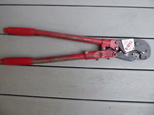 Thomas Betts Tbm8 Hand Compression Crimper Tool W 1 Die