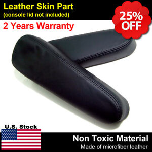 Fits 2001 2006 Honda Cr V Crv Leather Front Seat Armrest Replacement Cover Black