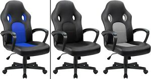 Office Chair Desk Leather Gaming Chair High Back Ergonomic Adjustable Racing