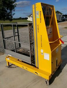 Biljax Xlt1571 Personnel Lift Genie 21 Working Height Manlift Lift Stock Picker