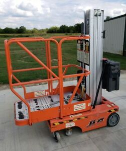 Jlg 12sp Personnell Lift Genie 18 Working Height Manlift Lift Stock Picker