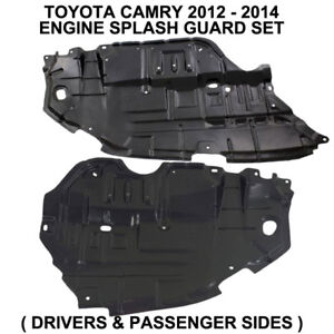 2012 2013 2014 Toyota Camry Engine Splash Guards Shields Set Left Right