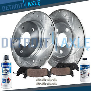 Rear Drilled Brake Rotors Ceramic Pads 2002 2005 Ford Explorer Mountaineer