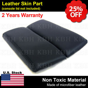 Leather Armrest Center Console Lid Cover Fits For Mazda Cx 9 2010 2015 Black