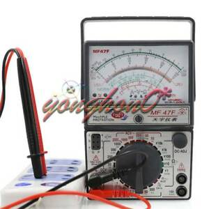 Mf47f Ac Dc Volt ac Dc Battery Tester Meter Gauge Analog Multimeter