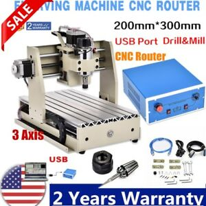 3axis 3020 Usb Cnc Router Engrvaing Drilling Milling Machine Engraver 3d Cutter