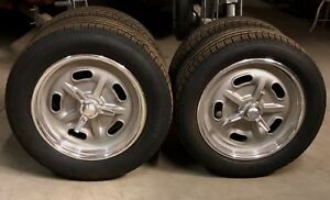New Kidney Bean Knock Off Halibrand Indy Style Wheel Michelin Tire Set