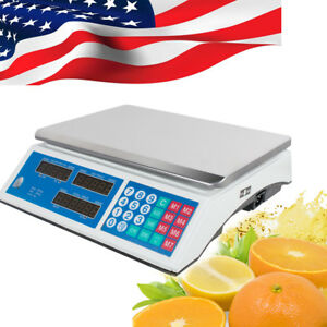 30kg Digital Weight Scale Price Computing Fruit Meat Produce Shop Market Home Ce