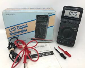 Radio Shack Micronta 22 186a Lcd Multimeter Excellent Condition