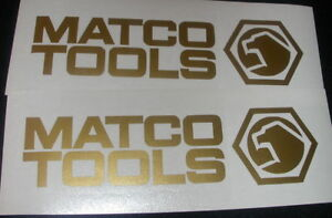 2 Matco Tools 6 Gold Decals For Toolbox Truck Windows Or Wherever