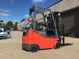 2014 Toyota 3000 Lpg propane Forklift s We Will Ship low Hours triple Stage ss