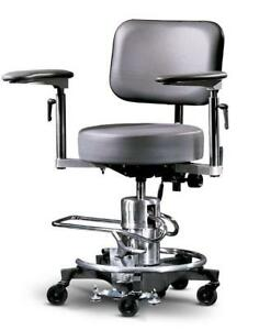 Reliance 558 Surgical Hydraulic Stool Black New