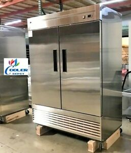 New 55 X 33 X 81 Two Door Upright Freezer commercial Reach In Model 55f Nsf 2