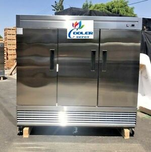 New 83 X 33 X 81 Three Door Upright Freezer commercial Reach In Model 83f Nsf