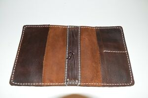 Speckled Fawns Travelers Notebook Field Notes 1 5 Inch Spine Brown Leather