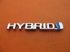 12 13 14 15 16 17 Toyota Prius V Hybrid Left Fender Chrome Emblem Logo Badge Oem