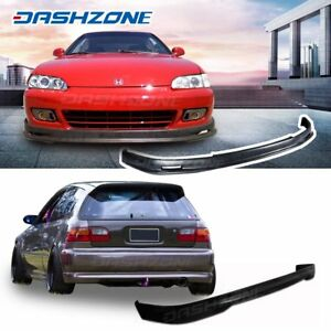 Mg Front Rear Bumper Lip Kits Spoiler Fit 1992 1995 Honda Civic Eg Hatchback 3d