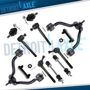 Upper Control Arms Sway Bars Outer Tierods 95 99 K1500 Suburban Tahoe Yukon 4wd