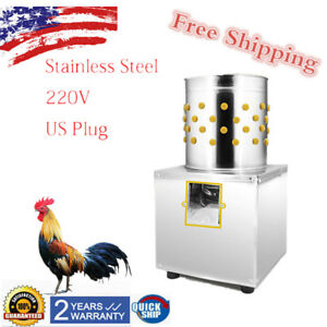 Electric Poultry Feather Plucker Stainless Steel Birds Chicken Machine Plucking