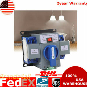 2p 63a Dual Power Automatic Transfer Switch Cb Level For Generator 50 60hz 110v