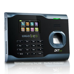 Zkteco Fingerprint Time Attendance Zk Wifi Fingerprint Time Clock U160 Tcp ip