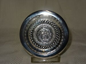 Collectable 925 Silver Peruvian Pin Dish 1915 1 2 Sol Coin 57g