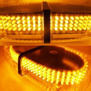 240 Led Amber Safety Emergency Flashing Strobe Light Snow Plow Tow Service Truc