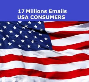 Usa Consumers 17 Millions Email List For Email Marketing 2018