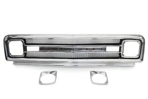 69 70 Chevy C10 Truck Polished Aluminum Outer Inner Grille Shell W Chevrolet