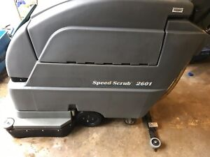 Tenant 24 Nobles Speed Scrub 2601 Floor Scrubber 24v Charger Good Batts