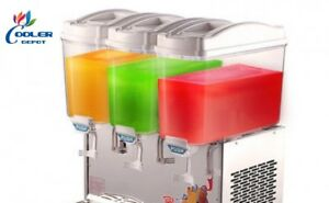 3 Compartment Beverage Juice Drink Dispenser Machine Agua Fresca Model Bd3