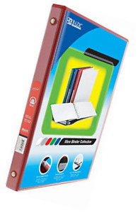 Bazic 1 2 Red 3 ring View Binder W 2 pockets For School Home Or Office cas