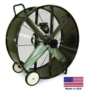 Drum Fan Portable Commercial 42 115v 1 Phase 3 4 Hp 15 850 Cfm
