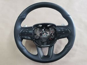 2015 2018 Dodge Charger Daytona Black Leather Wrapped Steering Wheel Oem Mopar