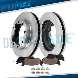 318mm Front Brake Rotor Ceramic Pad For 1994 1997 1998 1999 Dodge Ram 2500 4wd