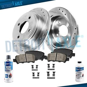 Rear Drill Brake Rotors Ceramic Pads 1991 1994 1995 1996 1997 Honda Accord