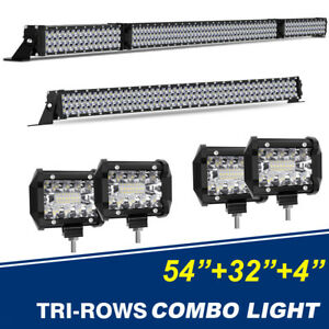 32 inch 2496w Cree Led Light Bar Quad row Spot Flood Offroad Driving Fog Lamp 34
