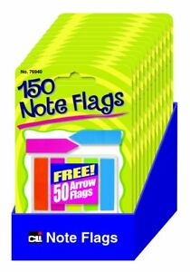 Charles Leonard Peel Off Sticky Notes Flags 140 Paper Markers And 50 Arrow Fl