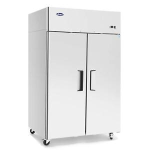 Commercial 2 Door Restaurant Refrigerator Equipment Kitchen Food Service Coolers
