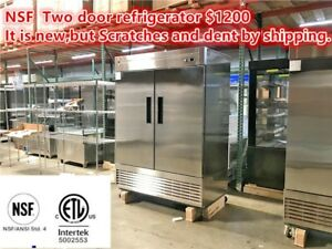 Commercial Reach In Freezer Refrigerator Cooler Restaurant Equipment 2 Door Nsf