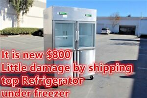 Commercial 4d Reach In Freezer Refrigerator Cooler Restaurant Equipment 4 Door