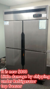 Commercial Reach In Freezer Refrigerator Cooler Restaurant Equipment 4 Door