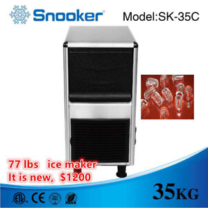 77 Lbs Commercial Ice Maker Ice Machine Ice Machine Restaurant Equipment